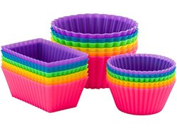 Pantry Elements Silicone Baking Cups / Bento Bundle Lunch Box Dividers (18-Pack)
