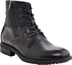 Marco Vitale Men's Side Zipper Textured Boot - Black - Size: 11