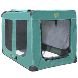 Indoor/Outdoor Soft-Sided Pet Crate - Green - X-Large