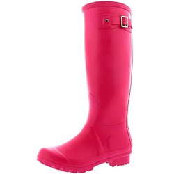 Polar Women's Winter Waterproof Wellies Rain Boot - Dark Fushia - Size: 10