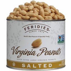 Feridies Salted Virginia Peanuts Can - Pack of 4 - 40oz