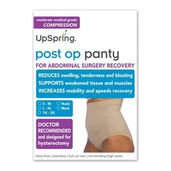 Post Op Panty High Waist Compression Only - Black - Small