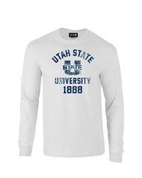 Sdi NCAA Utah Utes Mascot Block Arch Long Sleeve T-Shirt - White - Size: S