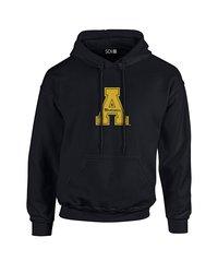 Sdi NCAA Appalachian State Mountaineers Stacked Hoodie - Black - Size: X-L