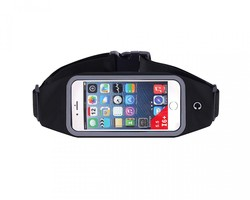 Extreme Fit Waterproof Smartphone Running Wasit Belt with Pouch - Black