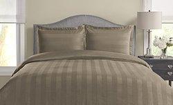 325TC 100% Pima Cotton Duvet Set - Taupe - Size: King