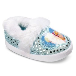 Disney Frozen Toddler Girls' Slide Slippers - Blue/White - Size: L (9/10)