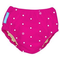 Charlie Banana Baby Reusable Swim Diaper - Hot Pink/White - Size: Medium