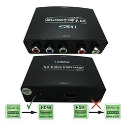 LinkS for DVD & PSP 5RCA RGB YPbPr to HDMI Converter Adapter