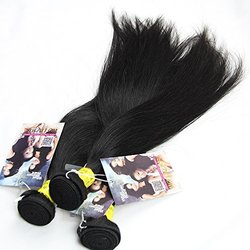 Ali Hot Hair Silky Straight Mixed Of 18inch 20inch 22inch Natural Black Color Virgin Brazilian Straight Human Hair