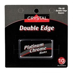 Crystal Double Edge Stainless Steel Razor Blades - 10 Pack