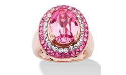 Palm Beach Women's Oval Cut Rose Crystal Cockail Ring