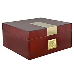 La Cubana Cigars Cherry Wooden Humidor Luxury Cap. - 50 cigars
