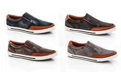Franco Vanucci Men's Slip On Sneaker: Navy/9.5