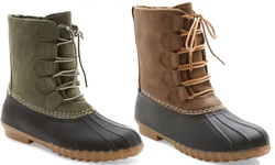 Willow Duck Boot: Green/8