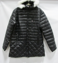 Spire by Galaxy Women's Puffer with Detachable Trim - Black - Size: 2XL