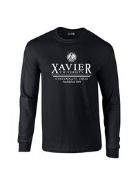 SDI NCAA Xavier Musketeers Classic Seal T-Shirt - Black - Size: Small