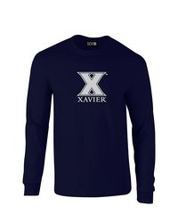 SDI NCAA Xavier Musketeers Mascot Foil T-Shirt - Navy - Size: Medium
