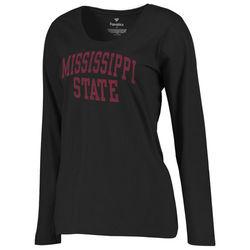 NCAA Women's Mississippi State Bulldogs Mascot Foil T-Shirt - Blk - Size:M