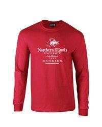 SDI NCAA Northern Illinois Huskies Stacked Vintage T-Shirt - Red - Size: L