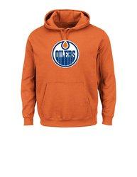 Majestic NHL Edmonton Oilers Men's Fleece Sweater - Orange - Size: XL