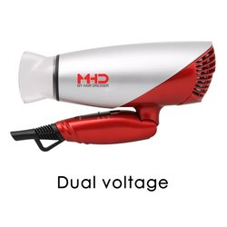 Mhd 1875w Hair Dryer Dual Voltage Blow Dryer with Foldable Handle