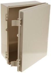 BUD Industries Plastic Abs Nema Economy Box with Solid Door - Light Gray