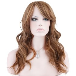 Kee Wig Fashion Synthetic Wig Long Wavy Mix & Dark Blonde Kelly #F2216