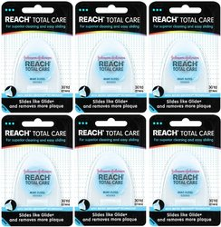 Reach Total Care Floss Mint 30 Yard Dispensers 6 Pcks