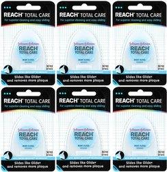 Reach Total Care Floss Mint 30 Yard Dispensers 6 Pcks