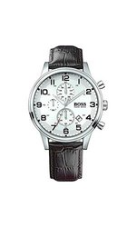 Hugo Boss Men's Leather Chrono Quartz Watch