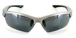 Aloha Eyewear Wrap-Around Reading Sunglasses - Silver with Smoke +2.50