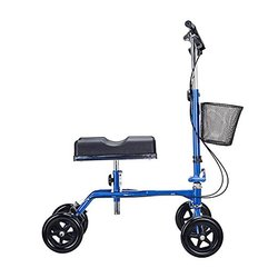 CO-Z Steerable Knee Walker Scooter - Double Brakes Folding Turning - Blue