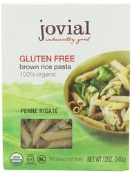 Jovial Organic Brown Rice Penne Rigate - 12-Ounce - Pack of 6