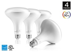 Hyperikon UL & ENERGY STAR Wide Flood Dimmable LED Light - Pack of 4