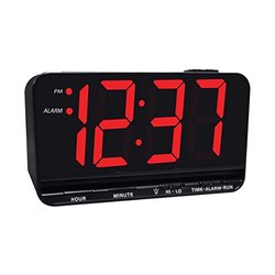 Jumbo Display Digital Alarm Clock - 3 inch LED