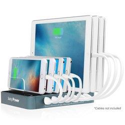 AVLT-Power Desktop USB Charging Station - Turquoise 7-port - (AVLT-CH08-1)