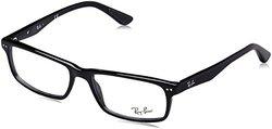 Ray-Ban Men's Rectangular Eyeglasses - Shiny Black - 54 mm
