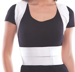 Toros Comfort Posture Brace Support Waist/Belly - White - Size: Large