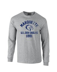 SDI NCAA Men's Mascot Block Arch Long Sleeve T-Shirt - S Grey - Size: L