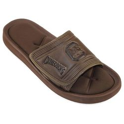 College Edition NCAA Men's Memory Foam Slide Sandals - Brown - Size: Small