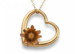 The Blessing Flower Women's Eternal Love Necklace - Gold