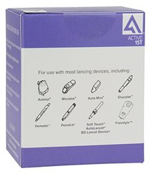 Active1st Bayer Contour Next Test Strips, 100 Refilll Count: 100 Test Strips, 100 30g Lancets, 100 Alcohol Prep Pads