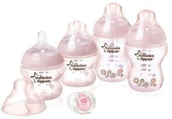 Tommee Tippee Flower Starter Slow Flow Set - Pink - Set of 5