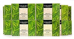 Neem Soap (Neem Leaves Bar Soap) - Handmade Herbal Soap (Aromatherapy) with 100% Pure Essential Oils - ALL Natural - Prevents Premature Aging - Each 2.65 Ounces - Pack of 12 (32 Ounces, 2 Lb) - Vaadi Herbals