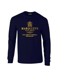 SDI Unisex NCAA Marquette Golden Eagles T Shirt - Navy - Size: Large