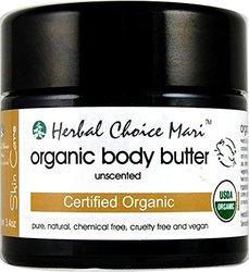 Herbal Choice Mari Organic Body Butter Unscented 100ml/3.4oz Jar