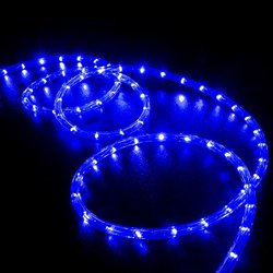 50' Flexible 2 Wire Blue LED Rope Light for Accent Holiday Christmas Party