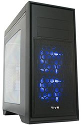 "Vivo ""titan"" Atx Mid Tower Computer Enthusiast Gaming Pc Case Black With Window/ 5 Fan Mount, USB 3.0 (case-v05)"