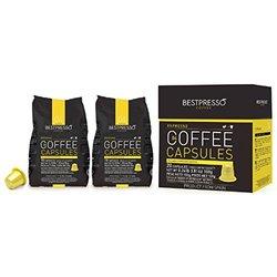 20 Bestpresso Nespresso Compatible Gourmet Coffee Capsules - Nespresso Pods Alternative: Espresso Blend Natural Espresso Flavor (Medium Intensity) - Certified Genuine Espresso